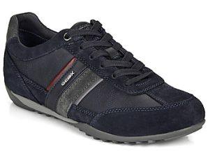 Xαμηλά Sneakers Geox U WELLS ΣΤΕΛΕΧΟΣ: Δέρμα και συνθετικό & ΕΠΕΝΔΥΣΗ: Ύφασμα & ΕΣ. ΣΟΛΑ: Ύφασμα & ΕΞ. ΣΟΛΑ: Καουτσούκ