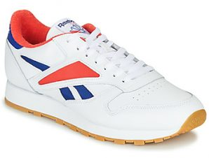 Xαμηλά Sneakers Reebok Classic CL LEATHER MARK ΣΤΕΛΕΧΟΣ: Δέρμα / ύφασμα & ΕΠΕΝΔΥΣΗ: Ύφασμα & ΕΣ. ΣΟΛΑ: Ύφασμα & ΕΞ. ΣΟΛΑ: Καουτσούκ
