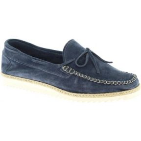 Μοκασσίνια Leonardo Shoes 244 CAMOSCIO JEANS