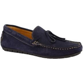 Μοκασσίνια Leonardo Shoes 205 CAMOSCIO BLU