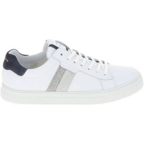 Xαμηλά Sneakers Schmoove Spark Gang Nappa Chevron Blanc Marine [COMPOSITION_COMPLETE]