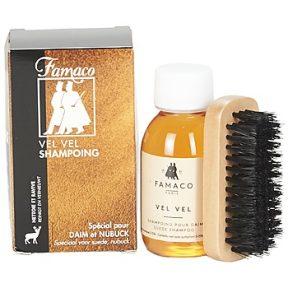 Φροντίδα Famaco Flacon shampoing «Vel Vel» 100 ml brosse