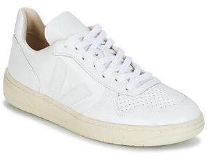 Xαμηλά Sneakers Veja V-10 ΣΤΕΛΕΧΟΣ: Δέρμα βοοειδούς & ΕΠΕΝΔΥΣΗ: Ύφασμα & ΕΣ. ΣΟΛΑ: Συνθετικό και ύφασμα & ΕΞ. ΣΟΛΑ: Καουτσούκ